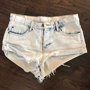 Bleached out jean shorts cut offs denim 27